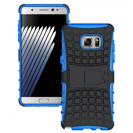 Hybrid Armor Tough Kickstand Phone Cover Case for Samsung Galaxy Note 7 / Note 6 Edge - Blue
