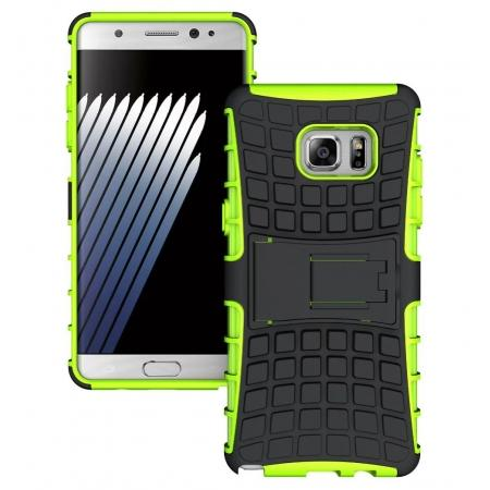 Hybrid Armor Tough Kickstand Phone Cover Case for Samsung Galaxy Note 7 / Note 6 Edge - Green