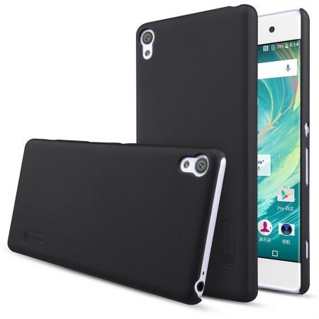 Nillkin Super Frosted Shield Case Cover for Sony Xperia XA with Screen Protector Film - Black