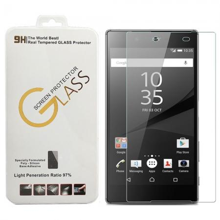 Ultra-thin 9H Hardness 2.5D Clear Transparent Anti-scratch Tempered Glass Screen Protector for Sony Xperia Z5 Premium