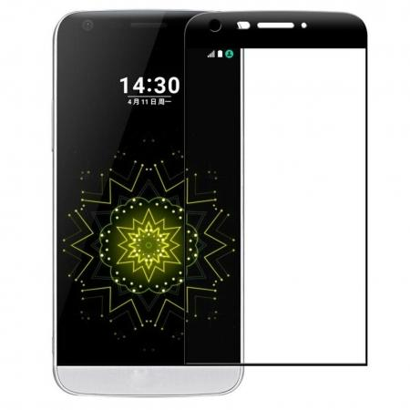 3D Curved Edge Full Coverage Tempered Glass Screen Protector for LG G5 - Black