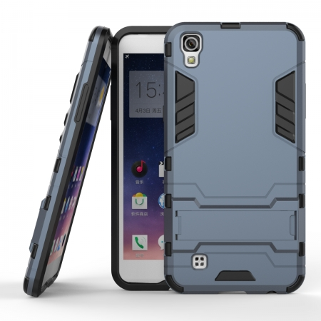 Hard Slim Armor Hybrid Kickstand Protective Cover Case for LG X Power K210 / K6P - Navy blue