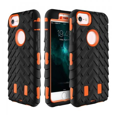 Hybrid Armor Dual Layer ShockProof Protector Cover Case for iPhone 7 4.7inch - Orange