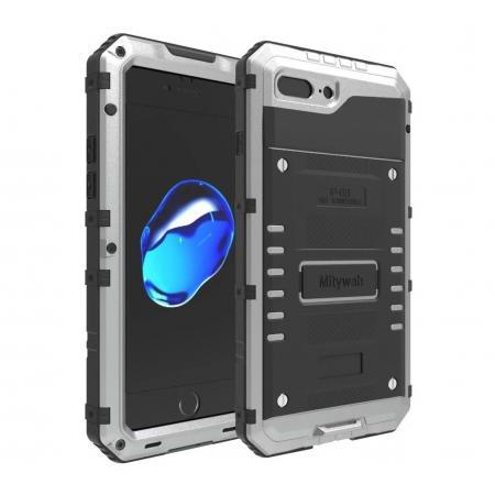 IP68 Waterproof Shockproof Aluminum Metal Case for iPhone 7 Plus 5.5inch - Silver