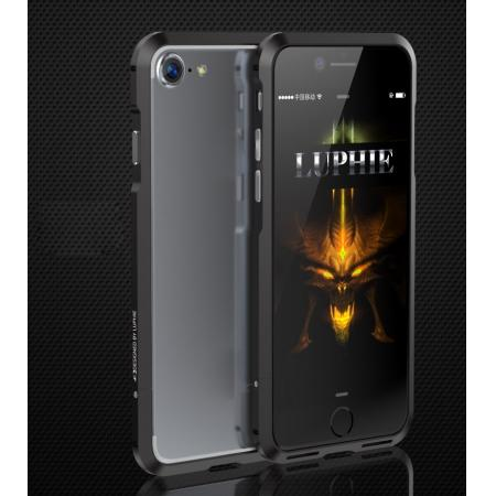 Shockproof Aluminum Metal Frame Bumper Case for Apple iPhone 7 - Black