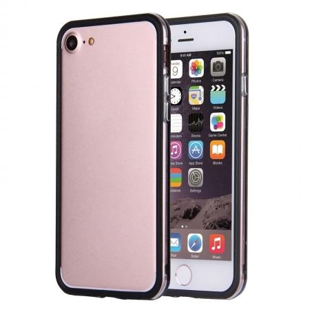 Clear Soft TPU Back Frame Border Cover TPU Bumper Case for iPhone 7 4.7inch - Clear&Black