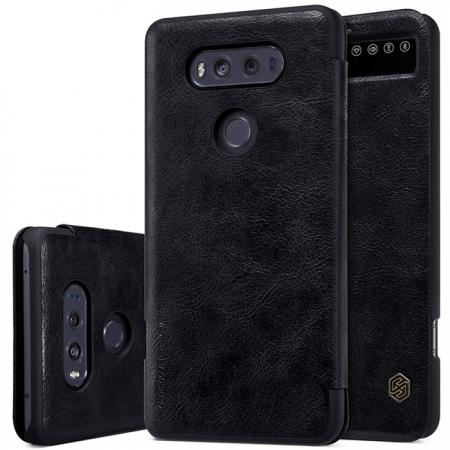 Nillkin Qin Series Up Leather Flip Wallet Cover Case For LG V20 - Black