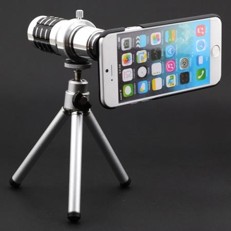 12X Optical Zoom Telescope Camera Lens+Tripod+Case For iPhone 7 Plus 5.5 inch