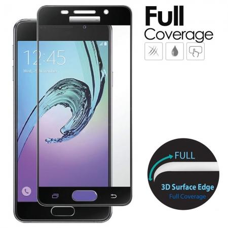 Black Full Coverage Tempered Glass Screen Protector for Samsung Galaxy A5 (2016)