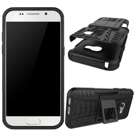 purchase cheap c1a24 5cc54 ShockProof Dual Layer Armor Kickstand Protective Case For Samsung Galaxy A5  (2017) - Black