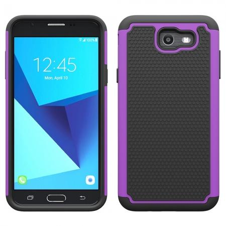 Shockproof Dual Layer Hybrid Armor Protective Case for Samsung Galaxy J7 (2017) / J7 V / J7 Sky Pro - Purple