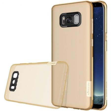 Nillkin Nature Series Clear Soft TPU Case Back Cover Ultra Thin Slim Fit for Samsung Galaxy S8 - Brown