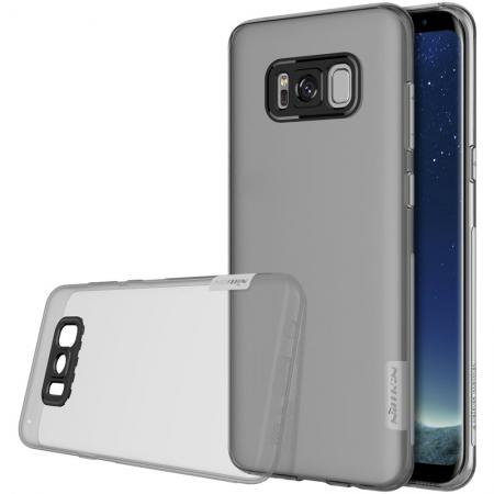 Nillkin Nature Series Clear Soft TPU Case Back Cover Ultra Thin Slim Fit for Samsung Galaxy S8 - Grey