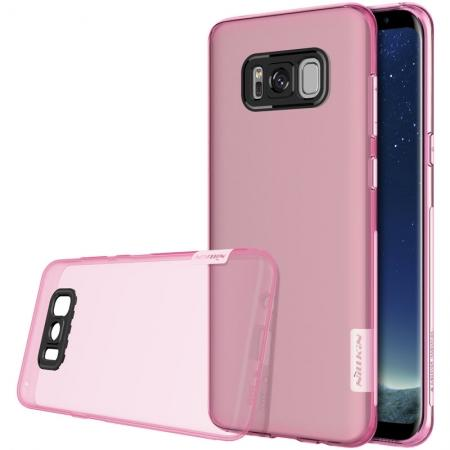 Nillkin Nature Series Clear Soft TPU Case Back Cover Ultra Thin Slim Fit for Samsung Galaxy S8 - Pink