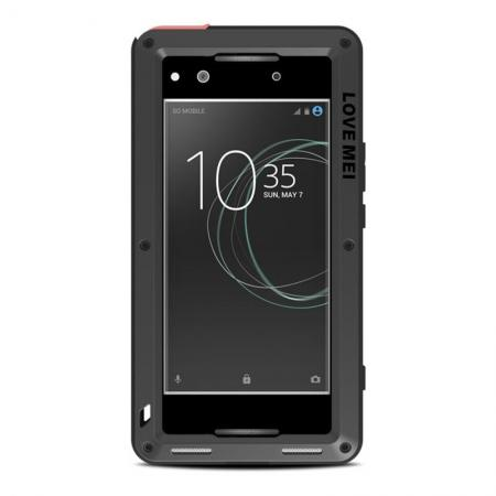 Shockproof Bumper Aluminum Metal Waterproof Cover Case for Sony Xperia XA1 Ultra - Black