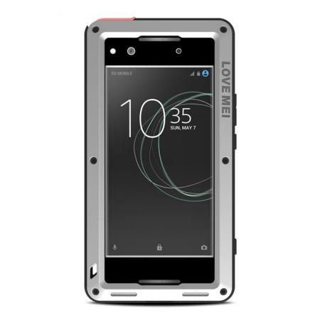 Shockproof Bumper Aluminum Metal Waterproof Cover Case for Sony Xperia XA1 Ultra - Silver