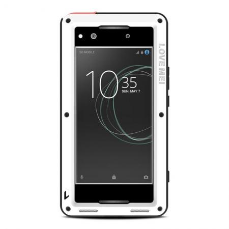 Shockproof Bumper Aluminum Metal Waterproof Cover Case for Sony Xperia XA1 Ultra - White