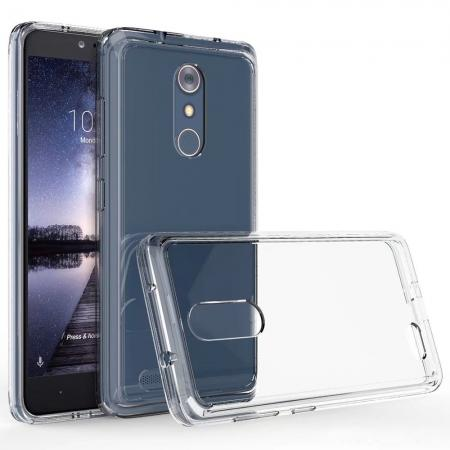 TPU Bumper & Acrylic Hybrid Shockproof Phone Cover Case For ZTE Zmax Pro Z981 - Clear