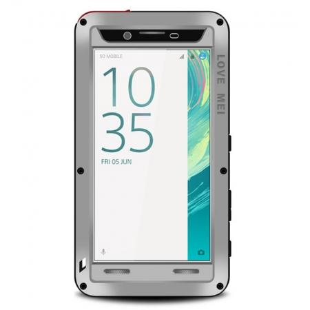 Waterproof Aluminum Shockproof Gorilla Metal Hard Cover Case For Sony Xperia XA - Silver