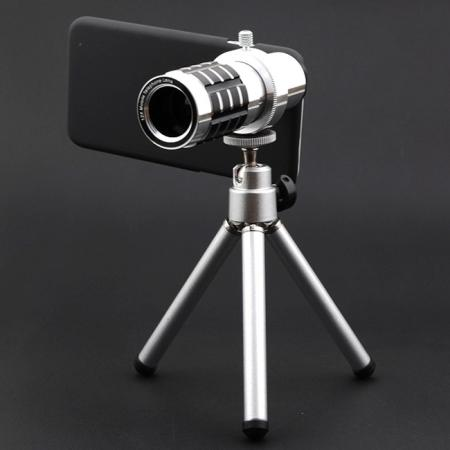 reputable site 048a6 6ff72 12X Zoom Telescope Camera Telephoto Lens+Tripod+Back Case Cover For iPhone  8 4.7inch