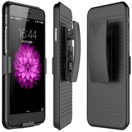 Belt Clip Holster Combo Defender Protective Cover Case for Apple iPhone 8 - Black