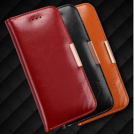 KLD Royale II Series Genuine Leather Wallet Case Cover for iPhone 8 Plus 5.5 Inch
