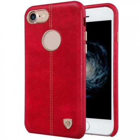 NILLKIN Englon Series Leather Back Case Cover for iPhone 8 4.7 inch - Red