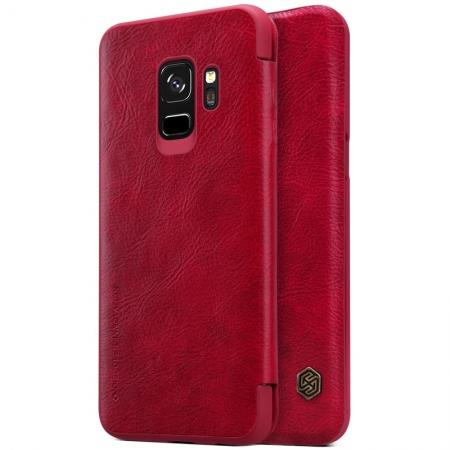 Nillkin Flip Leather Card Slot Case Cover For Samsung Galaxy S9 - Red