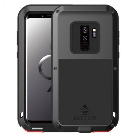 Heavy Duty Shockproof Dual Layer Bumper Case Cover for Samsung Galaxy S9 Plus - Black