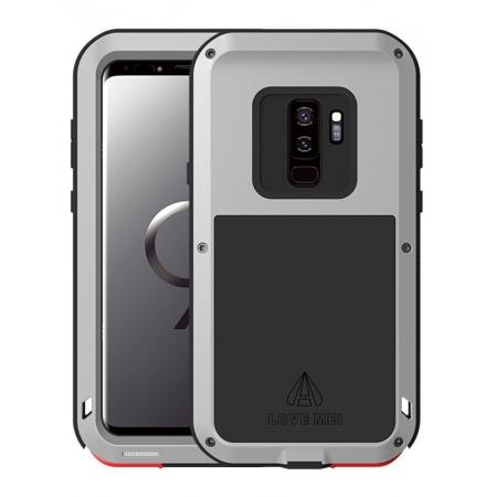 Heavy Duty Shockproof Dual Layer Bumper Case Cover for Samsung Galaxy S9 Plus - Silver