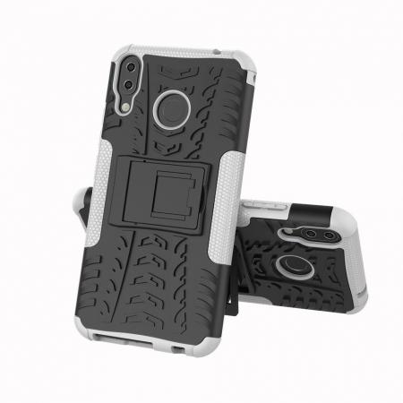For Asus ZenFone 5 (ZE620KL) Shockproof Rugged Hybrid Armor Impact Case  Hard Kickstand Cover - White