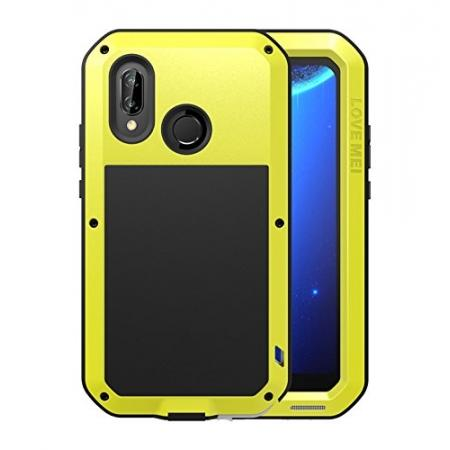 finest selection 14b0e 3e313 Metal Armor Shockproof Case Aluminum Cover For HUAWEI P20 Lite - Yellow