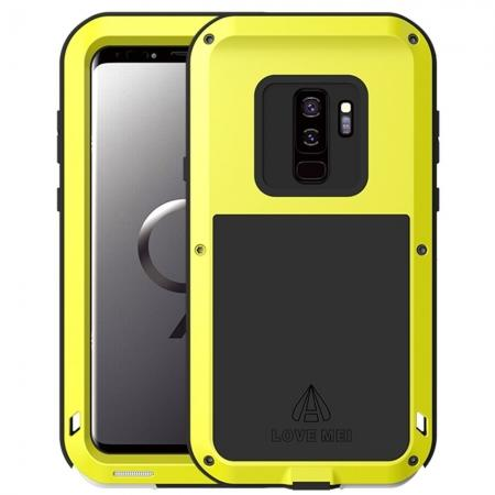 S9 Plus Aluminum Case Aluminum Metal Bumper Case for Samsung Galaxy S9 Plus - Yellow
