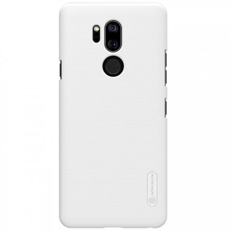 NILLKIN Super Frosted Shield Hard Case Cover for LG G7 ThinQ - White
