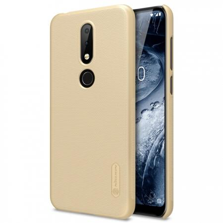 NILLKIN Super Frosted Shield Hard Phone Case Cover for Nokia X6 - Gold