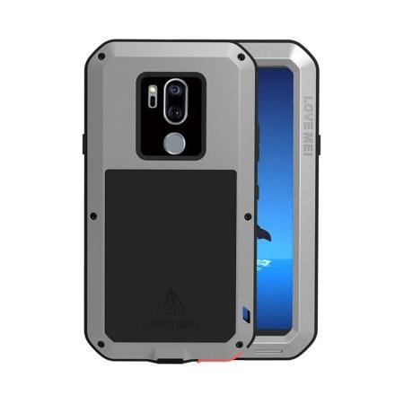 super popular b59c0 fbaec For LG G7 ThinQ/LG G7 Fit LOVE MEI Metal Shockproof Gorilla Glass Case -  Silver