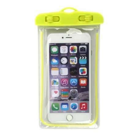 For LG G8 / G8S ThinQ Mobile Phone Waterproof Dry Case Bag Pouch - Yellow