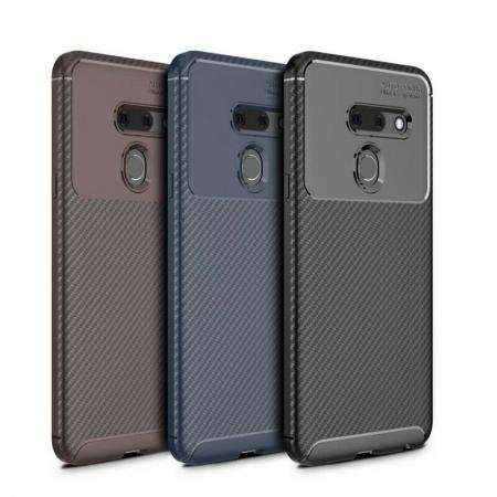 For LG G8S ThinQ Carbon Fibre Case Slim Soft Silicone TPU Cover