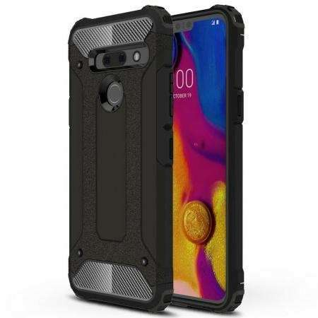For LG G8S ThinQ Case Rugged Armor Hybrid Shockproof Cover