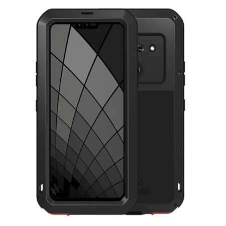 For LG G8S ThinQ Metal Shockproof Aluminum Case Cover - Black