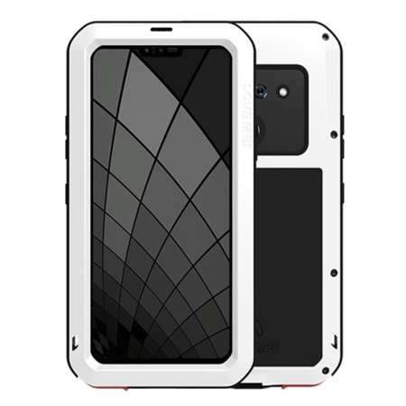 For LG G8S ThinQ Metal Shockproof Aluminum Case Cover - White