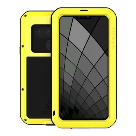 For LG G8S ThinQ Powerful Shockproof Aluminum Metal Cover Case - Yellow