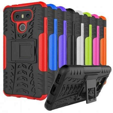 For LG G8s ThinQ ShockProof Rugged Armor Hybrid Kickstand Case Cover