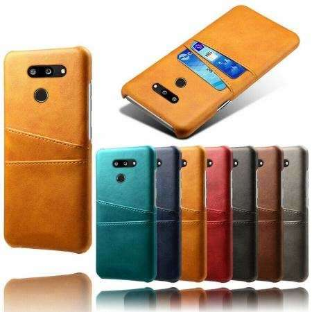 For LG G8s ThinQ Shockproof PU Leather Case Card Slot Back Cover