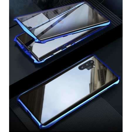For Samsung Galaxy Note 10 Plus S20 Ultra S10 Plus Double Side Glass 360° Metal Magnetic Case