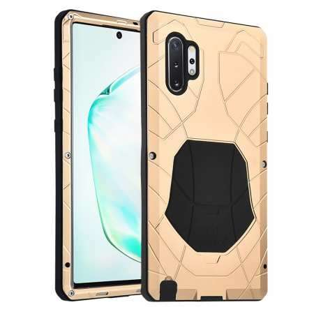 Luxury Armor Metal Case Shockproof Cover For Samsung Galaxy Note 10 - Gold