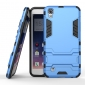 Hard Slim Armor Hybrid Kickstand Protective Cover Case for LG X Power K210 / K6P - Blue