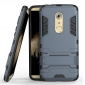 Rugged Armor Shockproof Hybrid Kickstand Protective Cover Case for ZTE Axon 7 - Navy Blue