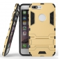 Tough Protective Kickstand Hybrid Armor Slim Skin Cover Case for iPhone 7 Plus 5.5inch - Gold