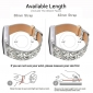 Bling Replacement Band Shiny Glitter Leather Wristband Strap For Apple Watch  Series 3 2 1 - Silver